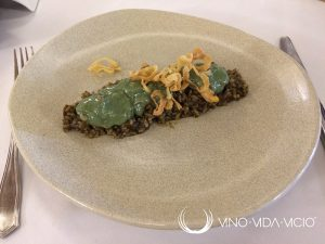 Arroz vegetal con navajas y algas espirulinas