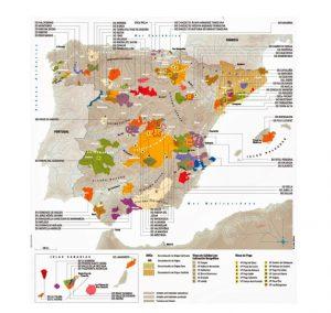 Zonas vitivinicolas en España